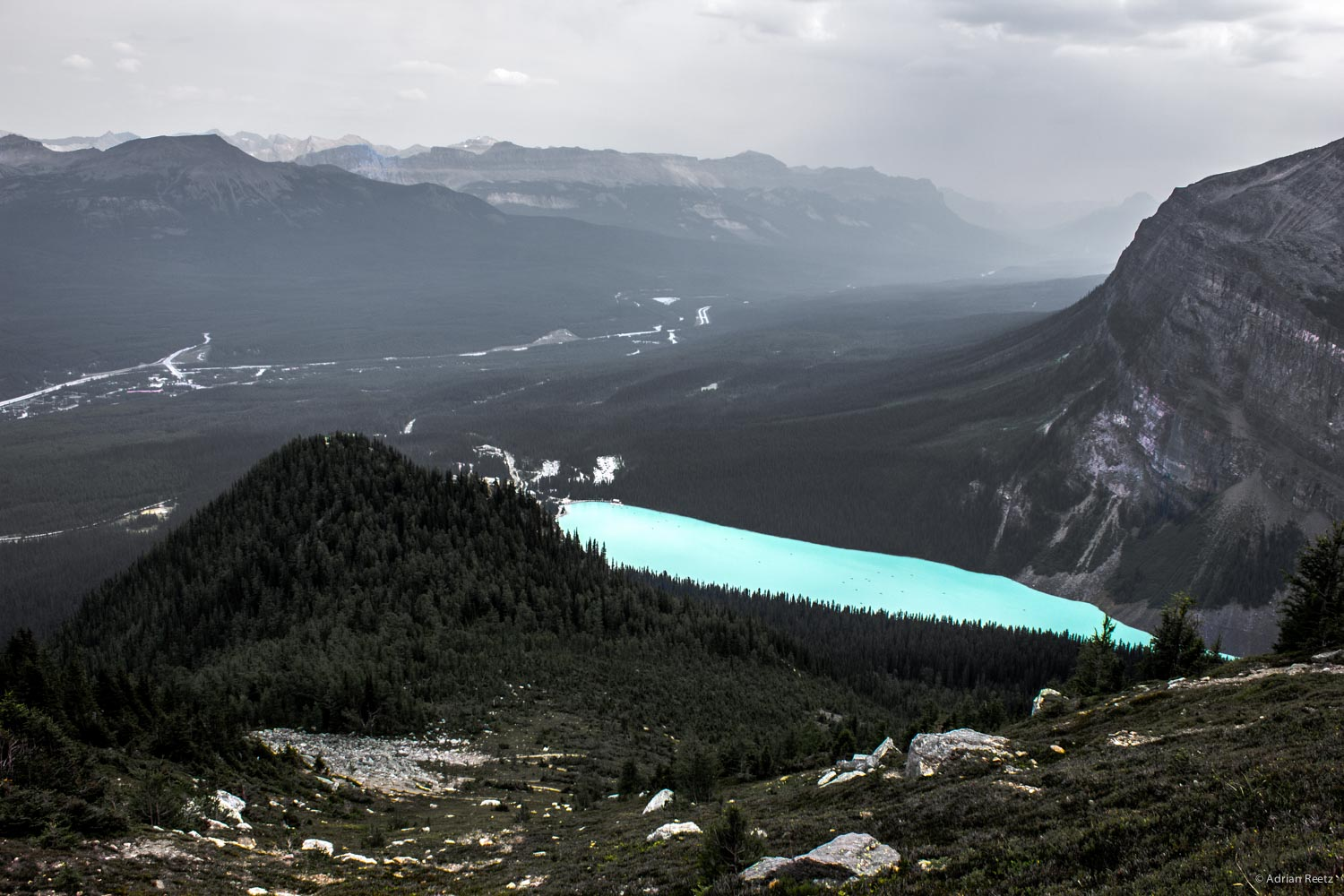 Lake Louise from Mount St. Piran